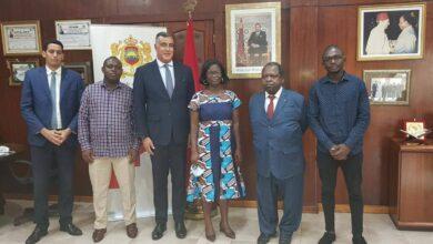 Photo de Audience avec l'ambassadeur du Royaume du Maroc en Côte d'Ivoire SEM Abdelmalek Kettani