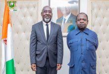 Photo de Le ministre Alcide Djédjé félicite l'UJPLA pour la fructueuse mission